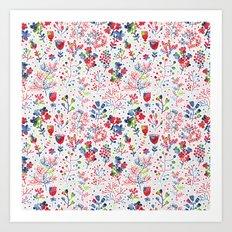 Berries Pattern 10 Art Print