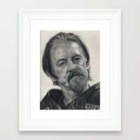 sons of anarchy Framed Art Prints featuring Chibs (Sons of Anarchy) by scottmitchell