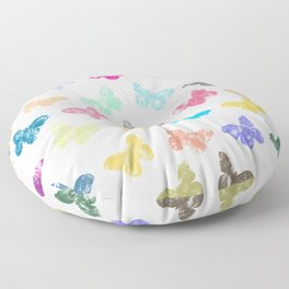 Colorful butterflies Floor Pillow