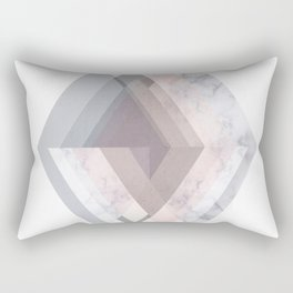 BLUSH MARBLE GRAY SCANDINAVIAN GEOMETRIC Rectangular Pillow