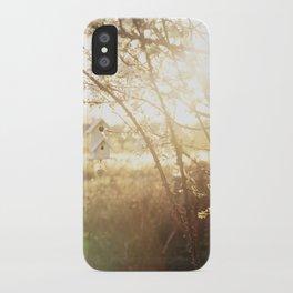 a little birdhouse iPhone Case