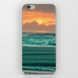 Turquoise Ocean Pink Sunset iPhone Skin