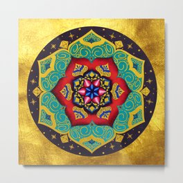 Connection with the universe / Mandala by Ilse Quezada Metal Print