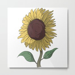 Sunflower laughs Metal Print