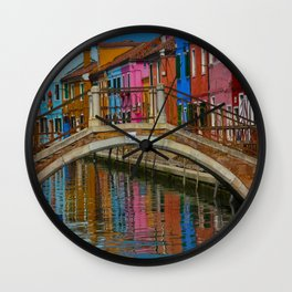 Bridge of Reflection Wall Clock