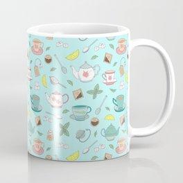 Vintage Pastel Teacups Tea Party Pattern Coffee Mug
