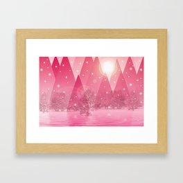Magic winter pink Framed Art Print