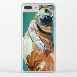 Johnny the Dog Rests Clear iPhone Case