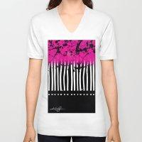 artsy V-neck T-shirts featuring Artsy Noise by Kathy Morton Stanion