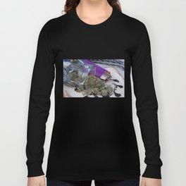 Silver Afghan Medical Marijuana Long Sleeve T-shirt