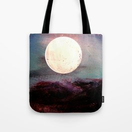 Tonight, I Am Dreaming That We Can Sleep Under The Same Moon. Tote Bag