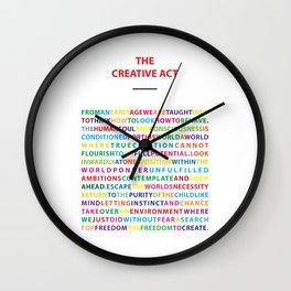 The Creative Act Wall Clock