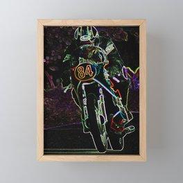 Motorcycle 2 Framed Mini Art Print