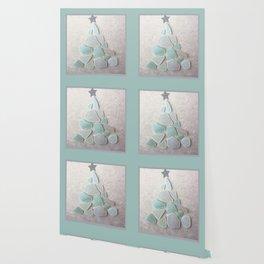 Sea Foam Sea Glass Christmas Tree #Christmas #seaglass Wallpaper