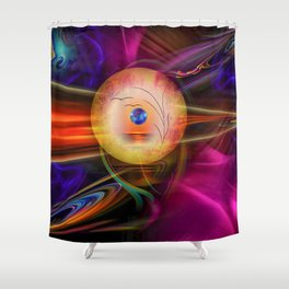 Abstract in perfection -Meditation Shower Curtain