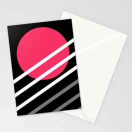 Oblique Sunset Stationery Cards