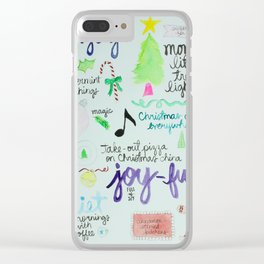 Christmas Manifesto Clear iPhone Case
