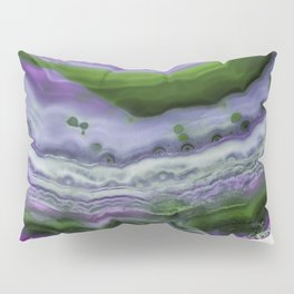 Purple and Green Agate Pillow Sham