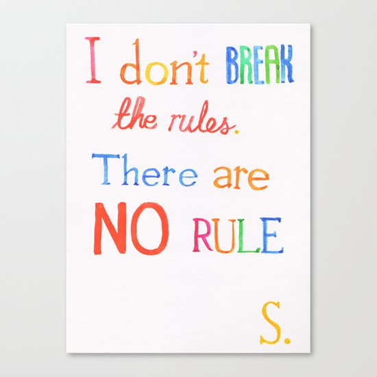 JUDAS (The Rules) Canvas Print
