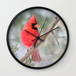 Winter's End Cardinal Wall Clock