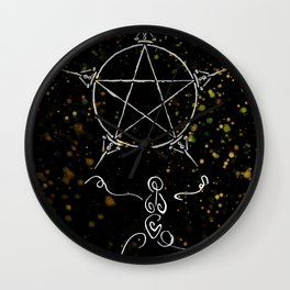 A Tarot of Ink 05 of Pentacles Wall Clock