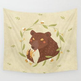 Whoops! - Bear - Wall Tapestry