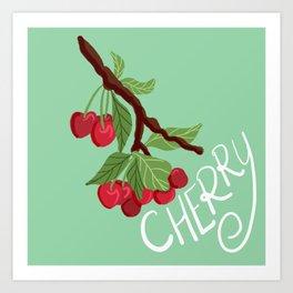 Cheery Tree Illustration Art Print