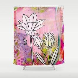 Pod and Daffodil Garden Shower Curtain