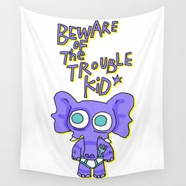 Trouble Kid Wall Tapestry