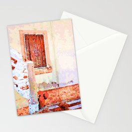 Borrello: vase with red flowers and window Stationery Cards