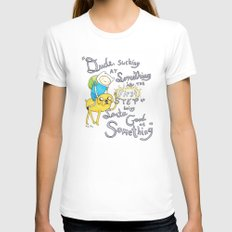 Adventure Time! White SMALL Womens Fitted Tee