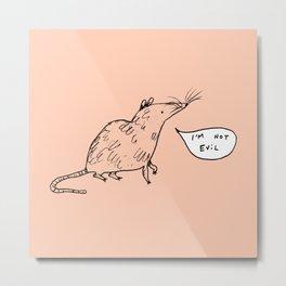 Rats Aren't Evil Metal Print
