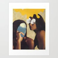 sisters Art Prints featuring sisters by Jesse Treece