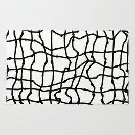 Melting Grid Pattern Rug