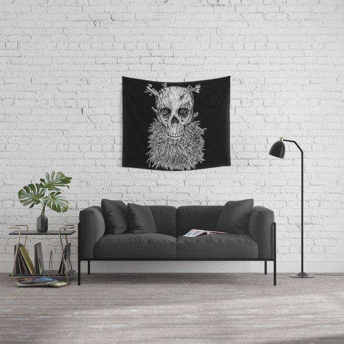 Lumbermancer B/W Wall Tapestry