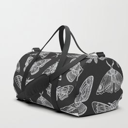 Lepidoptera Black & White Duffle Bag