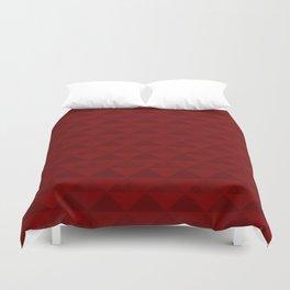 Red geometric pattern . Duvet Cover
