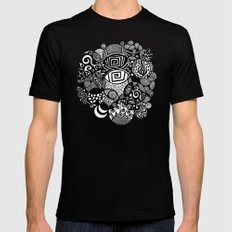 Introspection Abstract Illustration Mens Fitted Tee LARGE Black