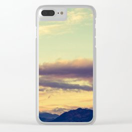 Welsh Man's Sky Clear iPhone Case