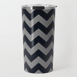 Chevrons Gray & Black Travel Mug