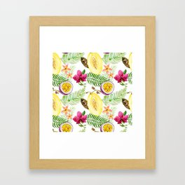 Fruits and Flowers Framed Art Print