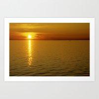 swedish Art Prints featuring Swedish Sunset by LesImagesdeJon