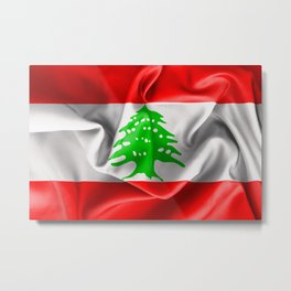 Lebanon Flag Metal Print