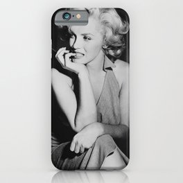 Mari-lyn Monroe poster , Mari-lyn Monroe photo vintage print iPhone Case