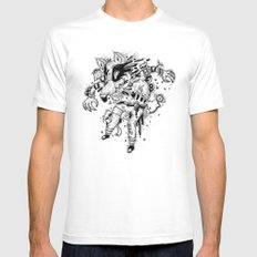 It's Time to Eat MEDIUM White Mens Fitted Tee