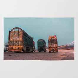 Trucks of Pakistan Rug