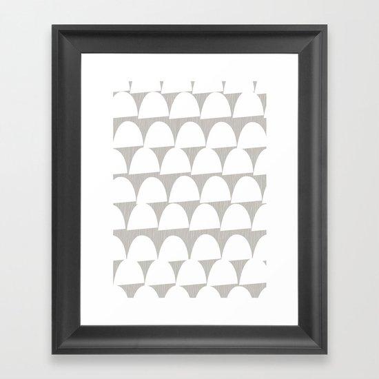 Shroom reverse Framed Art Print