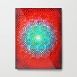 Alien Egg Cluster Metal Print