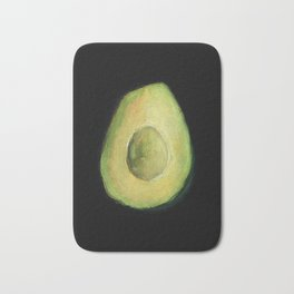 Empty Avocado Oil Pastel Painting by Brooke Figer Bath Mat