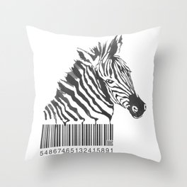Zebra Code Throw Pillow